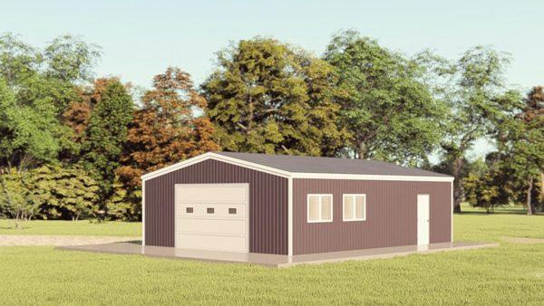Garages 24x32 garage metal building rendering 1