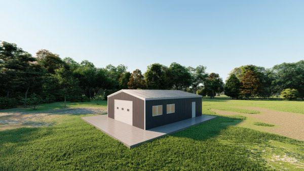 Garages 24x32 garage metal building rendering 3