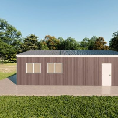 Garages 24x32 garage metal building rendering 5