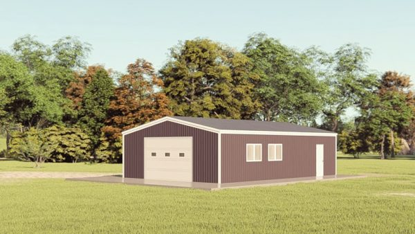 Garages 24x36 garage metal building rendering 1