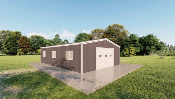 Garages 24x36 garage metal building rendering 4