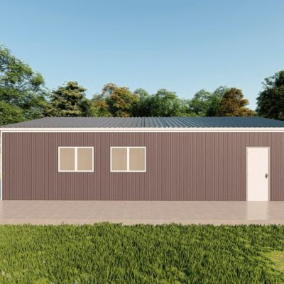 Garages 24x36 garage metal building rendering 5