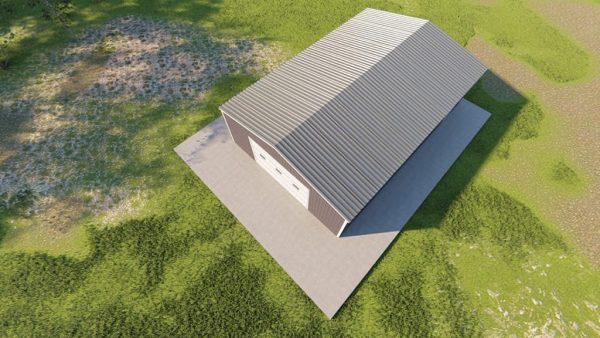 Garages 24x36 garage metal building rendering 6