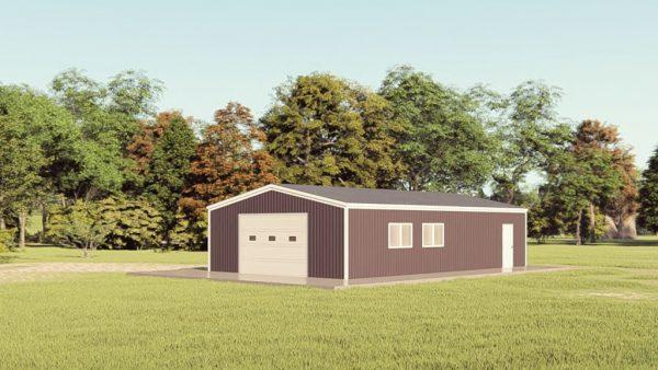 Garages 24x40 garage metal building rendering 1