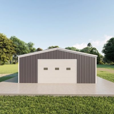Garages 24x40 garage metal building rendering 2