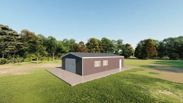 Garages 24x40 garage metal building rendering 3