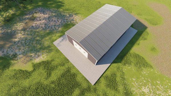 Garages 24x40 garage metal building rendering 6