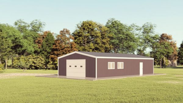 Garages 24x48 garage metal building rendering 1