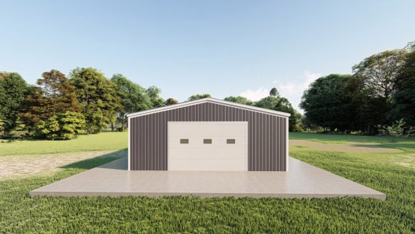 Garages 24x48 garage metal building rendering 2