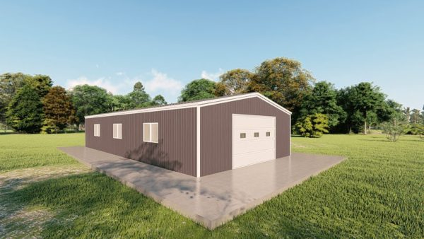 Garages 24x48 garage metal building rendering 4