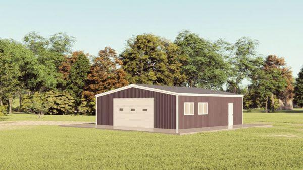 Garages 30x30 garage metal building rendering 1