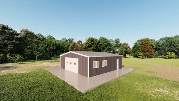 Garages 30x30 garage metal building rendering 3