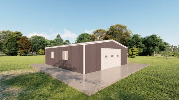 Garages 30x30 garage metal building rendering 4