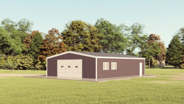 Garages 30x40 garage metal building rendering 1