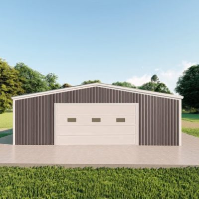 Garages 30x40 garage metal building rendering 2