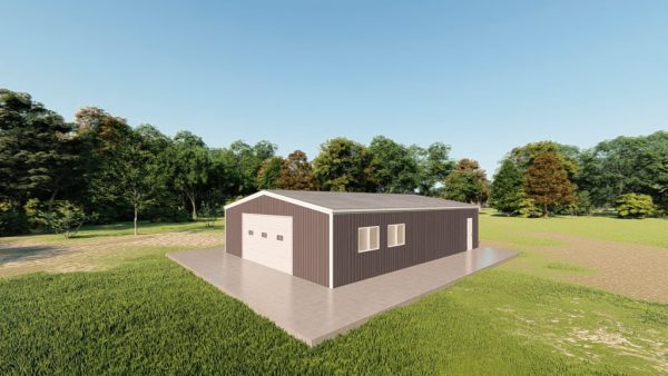 Garages 30x40 garage metal building rendering 3