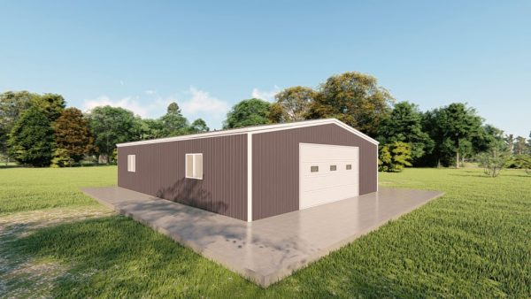 Garages 30x40 garage metal building rendering 4