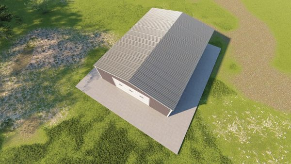Garages 30x40 garage metal building rendering 6