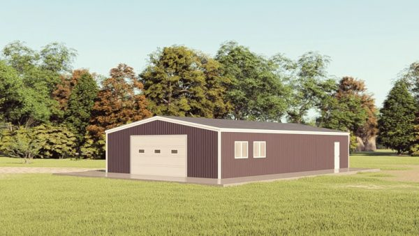 Garages 30x50 garage metal building rendering 1