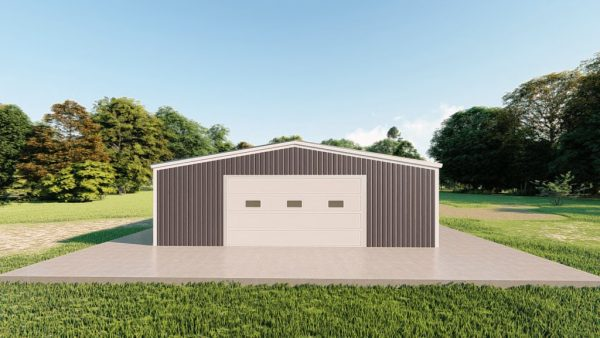 Garages 30x50 garage metal building rendering 2