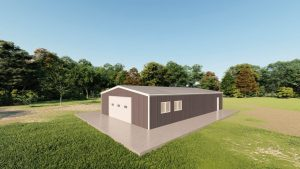 Garages 30x50 garage metal building rendering 3