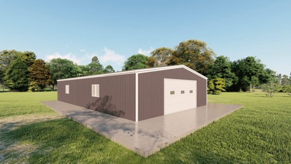 Garages 30x50 garage metal building rendering 4