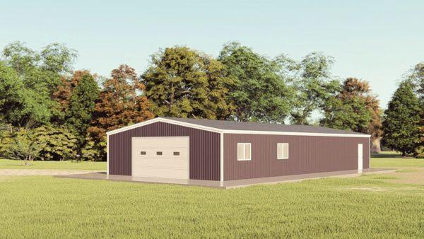 Garages 30x60 garage metal building rendering 1