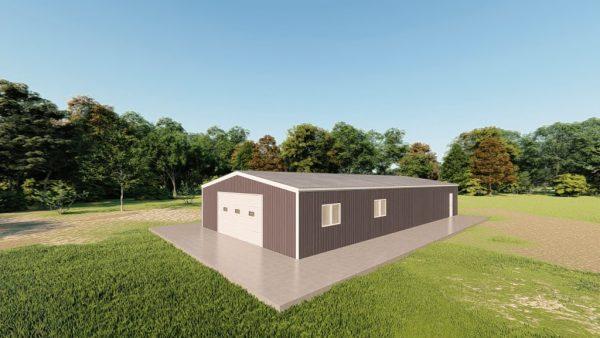 Garages 30x60 garage metal building rendering 3