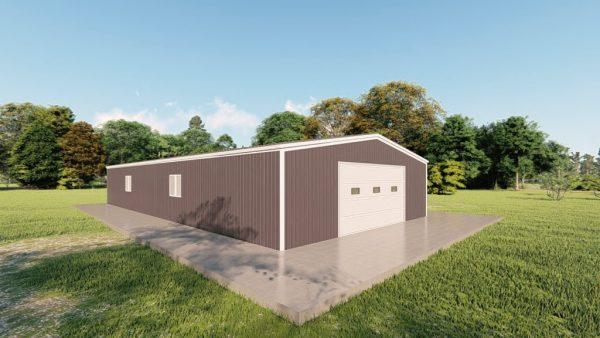 Garages 30x60 garage metal building rendering 4