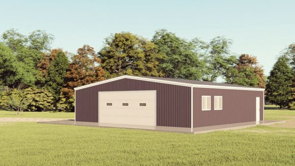 Garages 40x40 garage metal building rendering 1