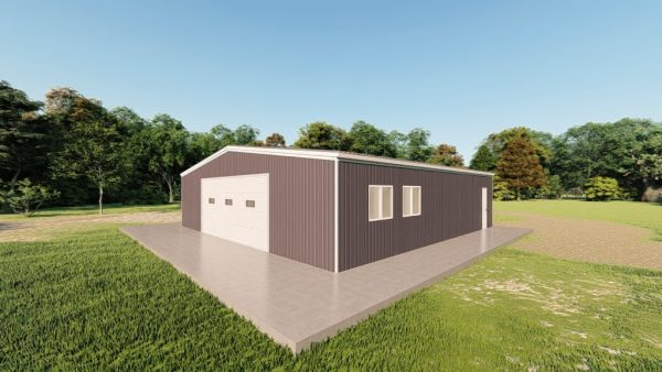 Garages 40x40 garage metal building rendering 3