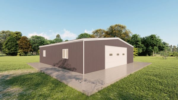 Garages 40x40 garage metal building rendering 4