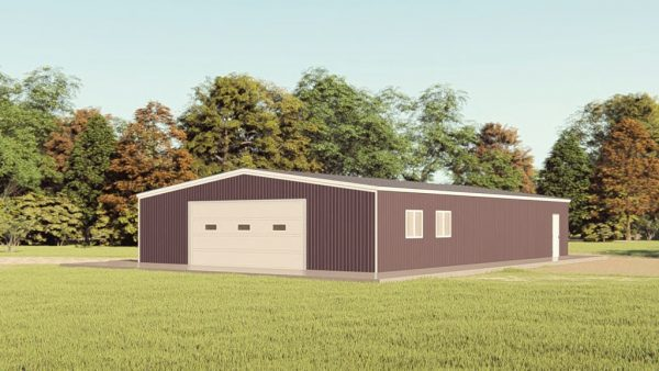 Garages 40x60 garage metal building rendering 1