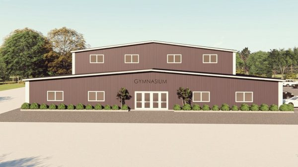 Gymnasiums metal building rendering 1