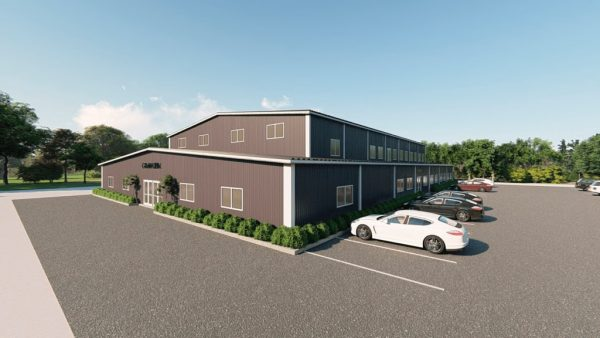 Gymnasiums metal building rendering 2