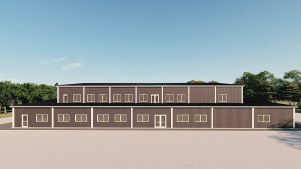 Gymnasiums metal building rendering 3