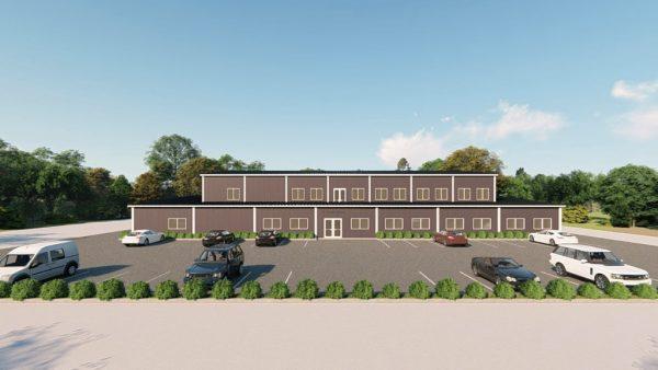 Gymnasiums metal building rendering 4