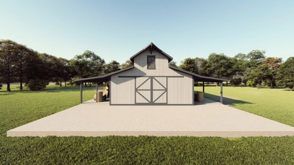 Hay storage metal building rendering 1