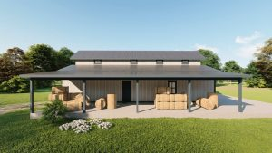 Hay storage metal building rendering 5