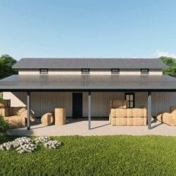 Hay storage metal building rendering 5