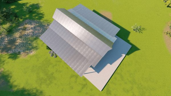 Hay storage metal building rendering 6