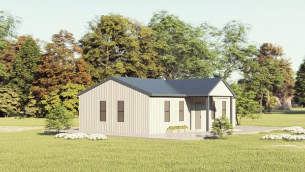 Houses 20x35 home metal building rendering 1