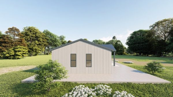 Houses 20x35 home metal building rendering 2