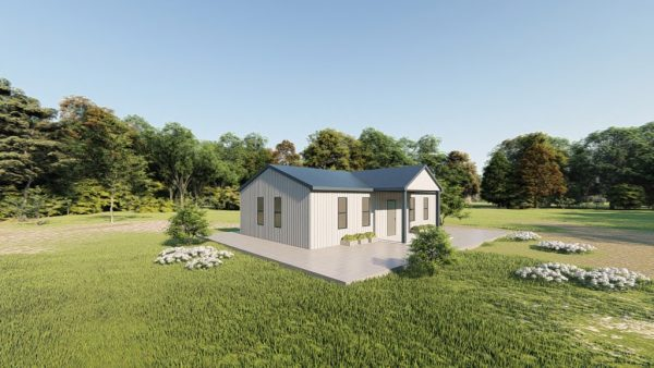 Houses 20x35 home metal building rendering 3