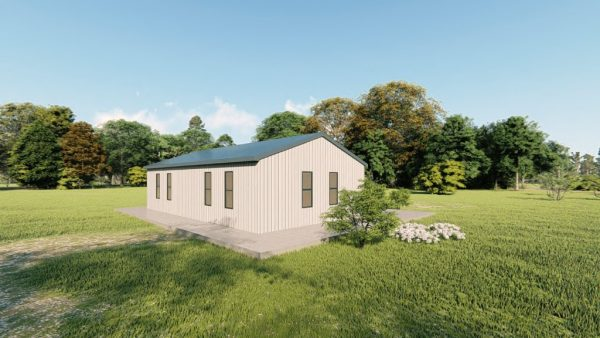 Houses 20x35 home metal building rendering 4