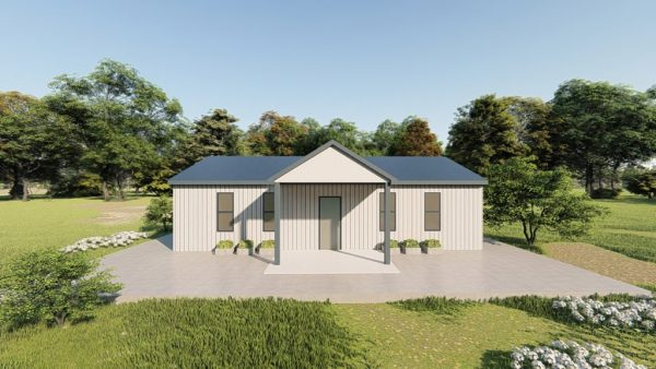 Houses 20x35 home metal building rendering 5
