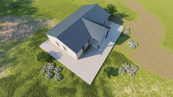 Houses 20x35 home metal building rendering 6