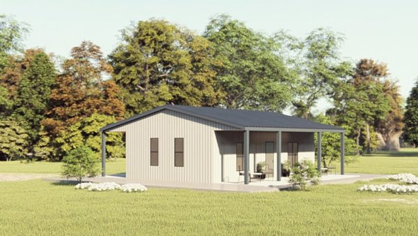 Houses 30x30 home metal building rendering 1