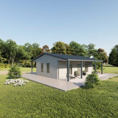 Houses 30x30 home metal building rendering 3