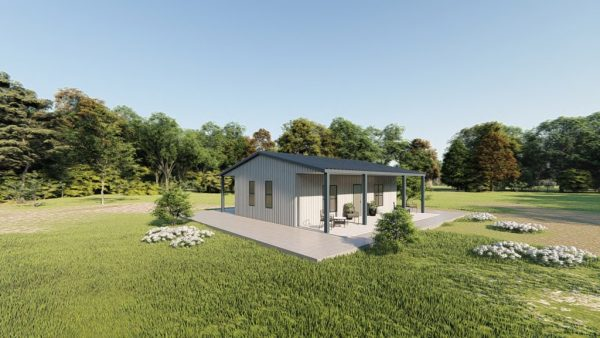Houses 30x30 home metal building rendering 3